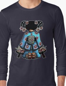 Asia Blue Doll (large design) Long Sleeve T-Shirt
