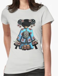 Asia Blue Doll (large design) Womens Fitted T-Shirt