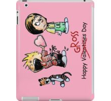 Valentines Day Calvin and Hobbes and Susie Fan Art iPad Case/Skin
