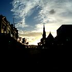 late Hobart city sun by Vimm