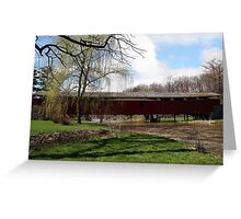 Bogert Covered Bridge - Allentown Pa. Greeting Card