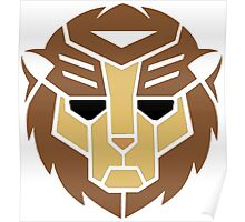 Lion Transformer Logo Retro Poster