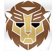 Lion Transformer Logo Retro Poster