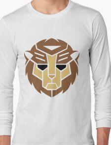 Lion Transformer Logo Retro Long Sleeve T-Shirt