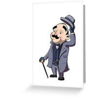 Poirot Greeting Card