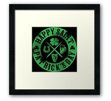Saint Patrick's Day Green Badge Logo Framed Print