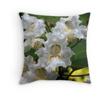 Catalpa in Bloom Throw Pillow