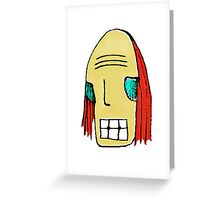 Cool Young Man Character Portrait Greeting Card