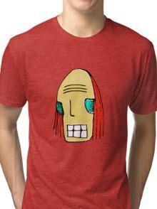 Cool Young Man Character Portrait Tri-blend T-Shirt