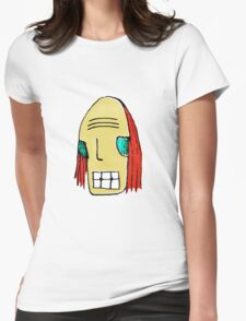 Cool Young Man Character Portrait Womens Fitted T-Shirt