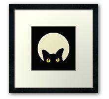 CAT FELINE HEAD Framed Print