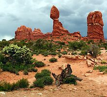 ~ Balanced Rock ~ Arches National Monument ~ by Brion Marcum