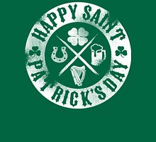 Saint Patrick's Day White Badge Logo Unisex T-Shirt