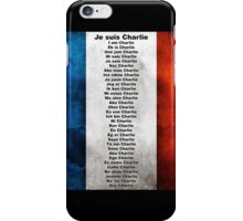 I am Charlie (Je suis Charlie), in any language iPhone Case/Skin