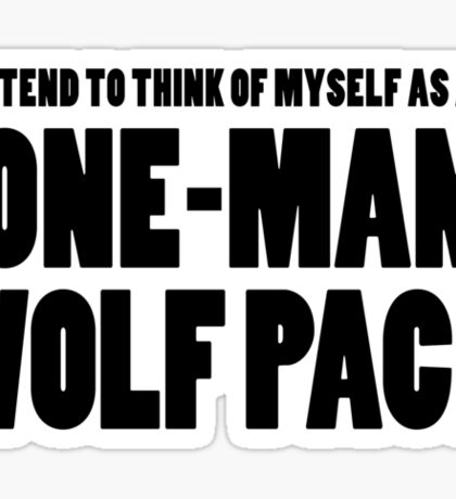 The Hangover - One-Man Wolf Pack Sticker