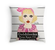Goldilocks Mugshot Throw Pillow