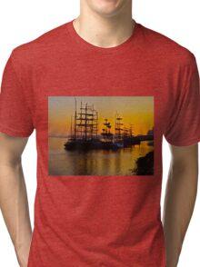 Tall ships at Greenwich Tri-blend T-Shirt