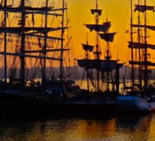 Tall ships at Greenwich Sticker