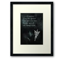 The Lord of the Rings inspired valentine (2/3). Framed Print
