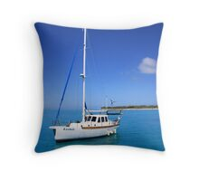 Lucky Boat Throw Pillow
