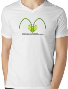 Male Mantis Misfortune  Mens V-Neck T-Shirt