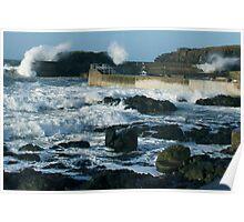 CRASHING SEA PORTSTEWART Poster
