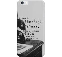 My Name is Sherlock Holmes iPhone Case/Skin