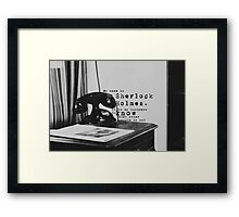 My Name is Sherlock Holmes Framed Print