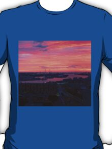 Rotterdam Sunset Panorama, from Euromast T-Shirt