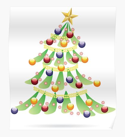 Decorative Christmas Tree 4 Poster