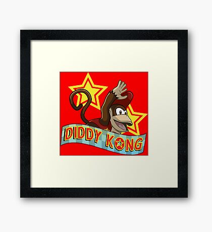 Diddy Kong Framed Print