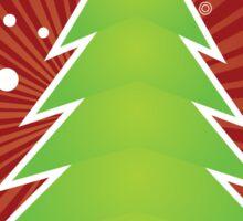 Christmas tree green applique Sticker