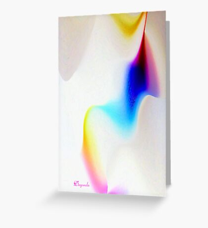 RIBBONS OF COLOR, SWIRLS OF WHITE Greeting Card