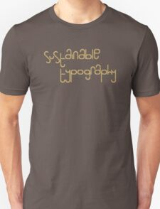 Sustainable Typography T-Shirt