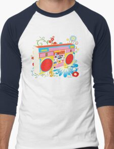 Boombox - Summertime Men's Baseball ¾ T-Shirt