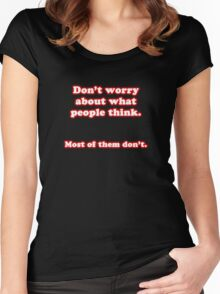 THINK! Women's Fitted Scoop T-Shirt