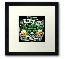 Irish Leprechaun Skull 3: Erin Go Home 2 Framed Print