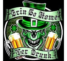 Irish Leprechaun Skull 3: Erin Go Home 2 Photographic Print