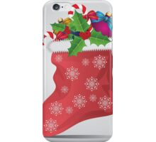 Christmas sock 4 iPhone Case/Skin