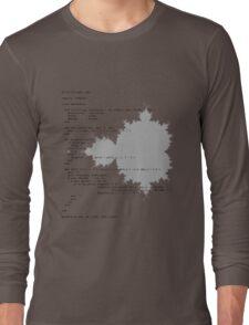 Self-Documenting Mandelbrot Long Sleeve T-Shirt