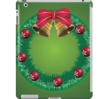 Christmas wreath with bells iPad Case/Skin