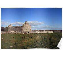 Rural Burren Church ruins Poster