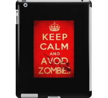Keep Calm and Avoid Zombies iPad Case/Skin