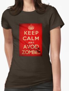 Keep Calm and Avoid Zombies Womens Fitted T-Shirt