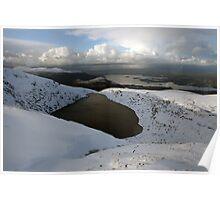 Mangerton mountain winter view Poster