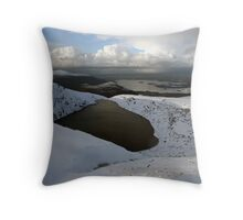 Mangerton mountain winter view Throw Pillow