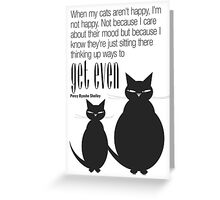 The Well-Read cat - 5 Greeting Card