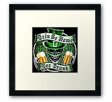 Leprechaun Skull 1: Erin Go Home Yer Drunk 2 Framed Print