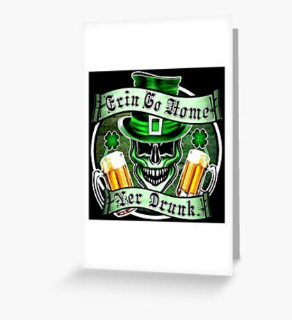 Leprechaun Skull 1: Erin Go Home Yer Drunk 2 Greeting Card