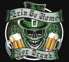 Leprechaun Skull 1: Erin Go Home Yer Drunk 2 Kids Tee